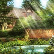 Spring - Garden - The Pool Of Hopes Art Print
