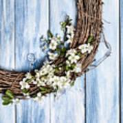 Spring Blossom Wreath Art Print