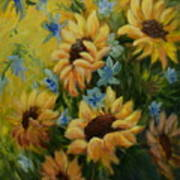 Sunflowers Galore Art Print