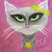 Spring Cat Art Print