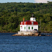 Spring Evening At Esopus Lighthouse Art Print