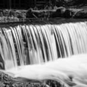 Spring Falls At Hodgson Grayscale Art Print