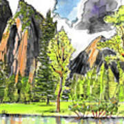 Spring In Yosemite Art Print