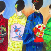 Spring Kimono Art Print