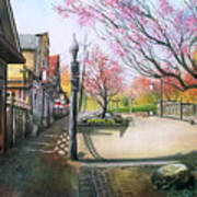Spring On Clarke Street Port Moody Art Print