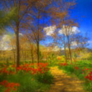 Spring Pathways Art Print