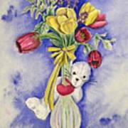 Spring Peek-a-boo I Love You Art Print