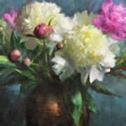 Spring Peonies Art Print