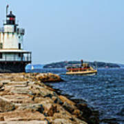 Spring Point Ladge Lighthouse - Maine Art Print