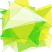 Spring Polygon Pattern Art Print