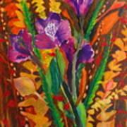 Spring Purple Bouquet Art Print