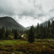 Spring Rain In The Wasatch Art Print