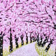 Spring Road  Art Print