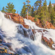 Spring Runoff At Glen Alpine Falls Art Print
