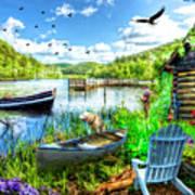 Spring Serenity At Lakeside Art Print