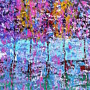 Spring Time In The Woods Abstract Oil Painting Art Print