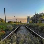 Spring Train Rails Art Print