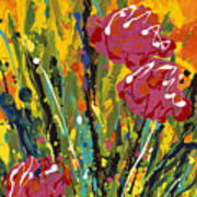 Spring Tulips Triptych Panel 2 Art Print