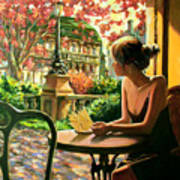 Spring, View From A Cafe Window In Paris Art Print