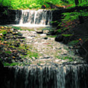 Spring Waterfall Art Print