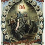 Springfield Bicycle Club 1886 Art Print
