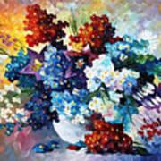 Springs Smile - Palette Knife Oil Painting On Canvas By Leonid Afremov Art Print