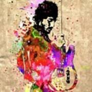 Springsteen Colored Grunge Art Print