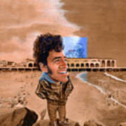 Springsteen on the Beach Art Print
