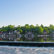 Springtime At Boathouse Row In Philadelphia Art Print
