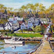 Springtime At Lobster Cove Annisquam Art Print