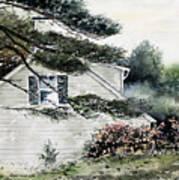 Springtime At Round Pond Maine Art Print