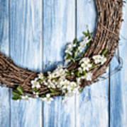 Springtime Wreath Art Print