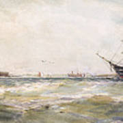 Squally Weather, Portsmouth Art Print