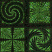 Square Crop Circles Quad Art Print