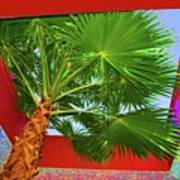 Square Palm Art Print