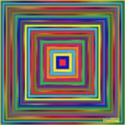 Square Shadings Art Print