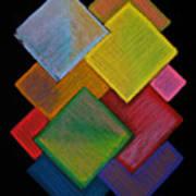 Squared Rainbow Art Print