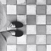 Squares And Feet Art Print