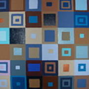 Squares Have It Art Print