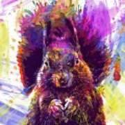 Squirrel Animals Possierlich Nager  Art Print