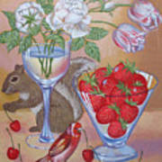 Squirrel Cherry .2006 Art Print