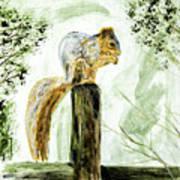 Squirrel Painting Art Print