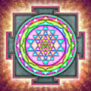 Sri Yantra - Artwork 7.3 Art Print
