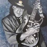 Srv - Stevie Ray Vaughan  Art Print