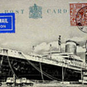Ss United States - Post Card Art Print