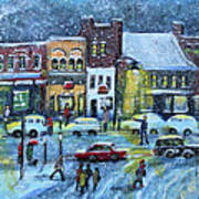 Snowing In Concord Center Art Print