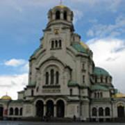 St Alexander Nevski Cathedral In Sofiq Art Print