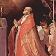 St Andrew Corsini In Prayer 1635 Art Print