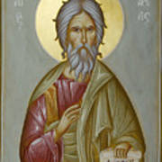 St Andrew The Apostle And First-called Print by Julia Bridget Hayes