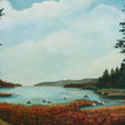 St Annes Bay Nova Scotia Art Print